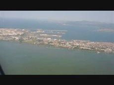 Посадка в городе Бургасе, Болгария, лето и море